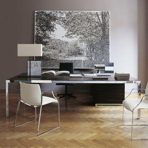 bureau de direction / en bois / en acier / en verre
