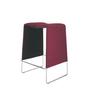 tabouret de bar contemporain / en cuir / en acier / en tissu