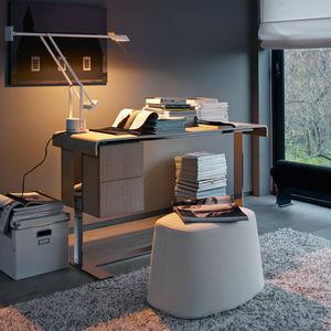 meuble secrétaire contemporain / en bois / en acier / en cuir