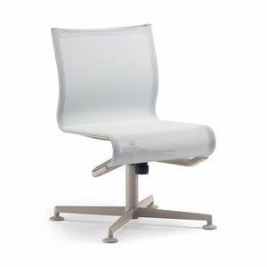 chaise de conférence tapissée / pivotante / inclinable / piètement étoile