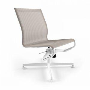 chaise de bureau contemporaine / piètement étoile / avec accoudoirs / tapissée
