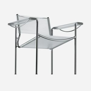 fauteuil contemporain / en cuir / en acier chromé / en PVC