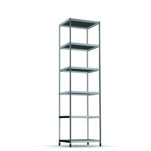 étagère modulable / contemporaine / en aluminium / en verre