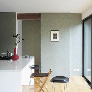 papier peint contemporain / à motif géométrique / effet métallisé / couleur