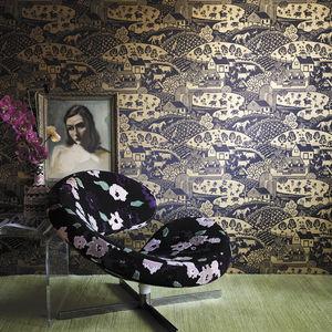 papier peint contemporain / scène / effet métallisé / aspect doré