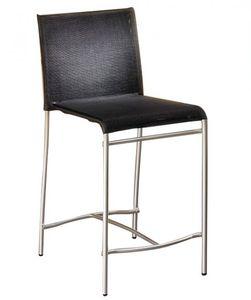 chaise de bar contemporaine / avec repose-pieds / en métal / en polyester