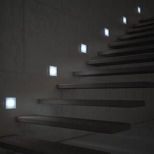 luminaire encastrable au mur / à LED / carré / en verre