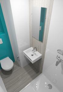 salle de bain contemporaine / en polyester / professionnelle / préfabriquée