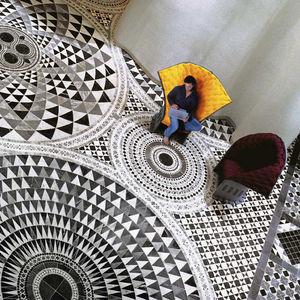 mosaïques d'intérieur / au sol / en marbre / carrées