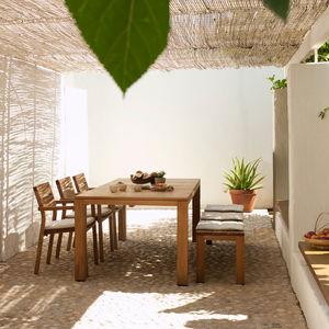 banc de jardin contemporain