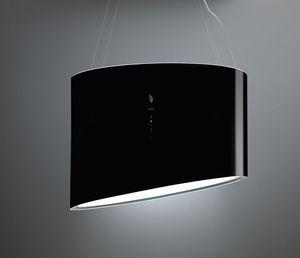 hotte de cuisine îlot / avec éclairage intégré / design original / avec système ionisant
