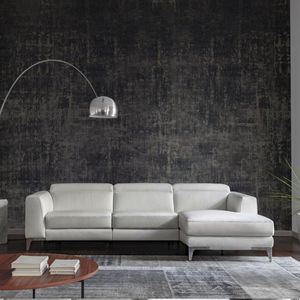canapé d'angle / contemporain / en cuir / multiplace