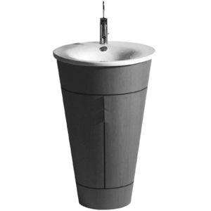 meuble vasque à poser / en bois / contemporain / avec étagère intégrée