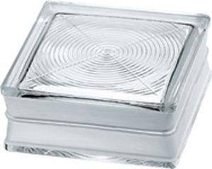 brique de verre carrée / à relief / murale / pour plancher