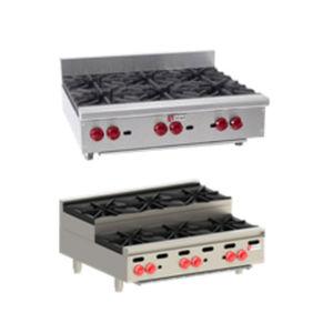 table de cuisson à gaz / professionnelle / 6 foyers