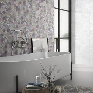 carrelages de salle de bain / muraux / en céramique / hexagonaux