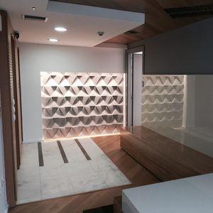carrelage d'intérieur / mural / en béton / à motif géométrique