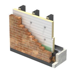 panneau sandwich pour mur / pour bardage / face métallique / âme isolante