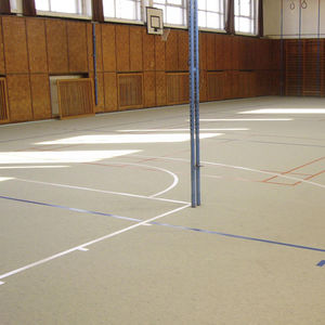 sol sportif en linoléum / d'intérieur / industriel / professionnel