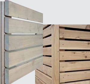 bardage en panneaux / en mélèze / finition naturelle / écolabel FSC