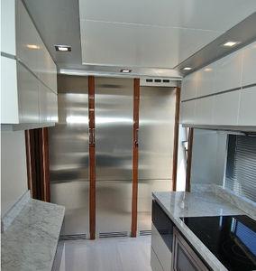 réfrigérateur résidentiel / à 3 portes / en bois / en inox