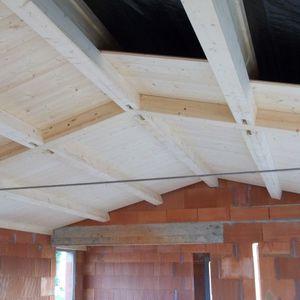 poutre préfabriquée / en bois massif / en I / pour plancher à poutrelles