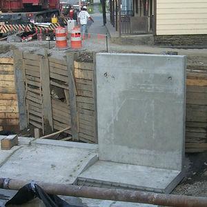 mur de soutènement en béton armé / modulaire / préfabriqué / routier