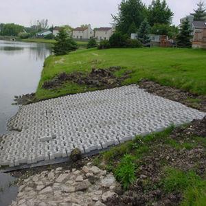 bloc de béton creux / léger / pour fondation / pour barrière