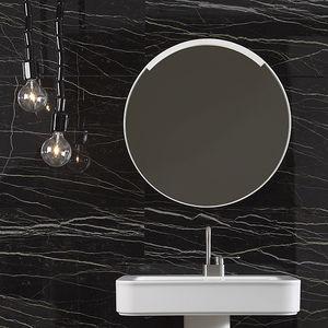 miroir de salle de bain mural / lumineux (LED) / contemporain / rond