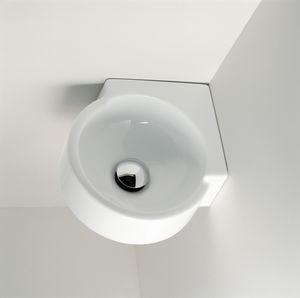vasque suspendue / d'angle / en céramique / contemporaine