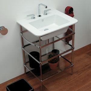console pour lavabo en chrome
