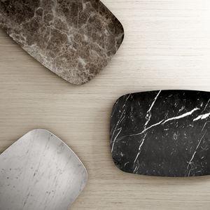 plateau de service en marbre / à usage domestique