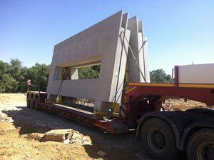 mur en béton / préfabriqué / avec panneau modulaire