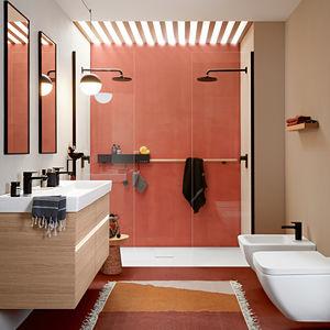 salle de bain contemporaine / en céramique / en plaqué bois / en composite