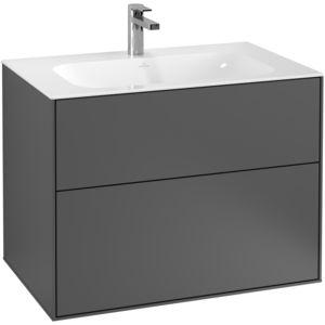 meuble vasque suspendu / en bois laqué / contemporain / avec tiroirs