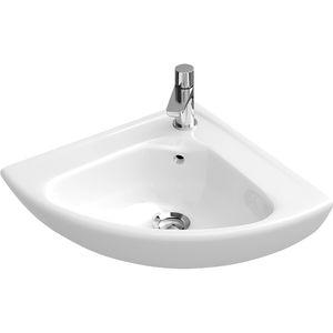 lave-mains suspendu / d'angle / en porcelaine / professionnel