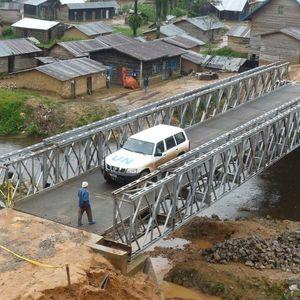 pont à treillis / en acier / préfabriqué / modulaire