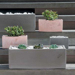 jardinière en terracotta / rectangulaire / contemporaine