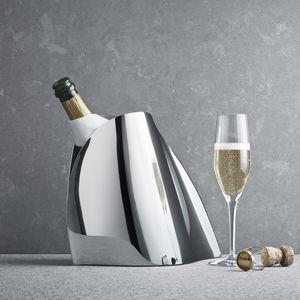 seau à champagne en acier inoxydable poli