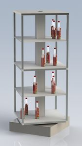 porte-bouteilles en aluminium