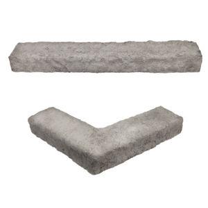 parement en pierre reconstituée / d'extérieur / texturé / aspect pierre