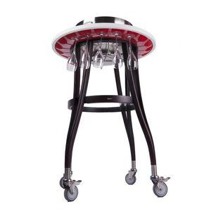 chariot à boissons / pour cuisine professionnelle / en bois