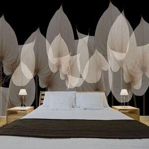 papier peint contemporain / en vinyle / en polyester / à motif floral