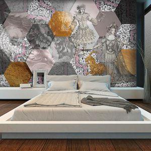papier peint design original / en vinyle / en polyester / à fleurs