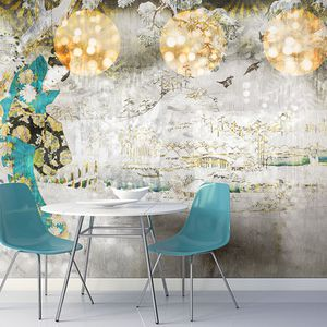 papier peint design original / en vinyle / en polyester / à motif floral