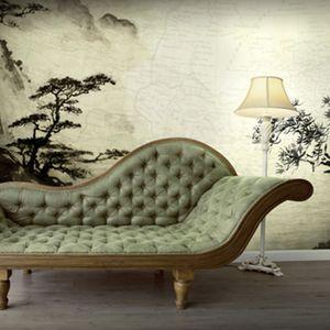 papier peint contemporain / en vinyle / à motif nature / panoramique