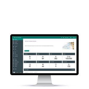 logiciel de gestion de contrôle d'accès et de sécurité / de surveillance / pour système RFID / pour visiophone (interphone IP)
