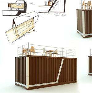 construction en conteneurs commerciale / pour restaurant