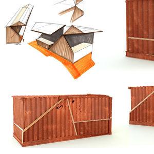 construction en conteneurs commerciale / pour restaurant / pour commerce