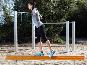 poutre d'équilibre pour parcours de santé